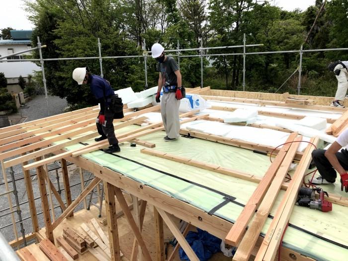 建て方を行っております 郡山市富田町 |郡山市 新築住宅 大原工務店のブログ