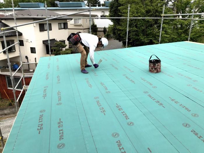 ルーフィングを施工しております 郡山市富田町 |郡山市 新築住宅 大原工務店のブログ