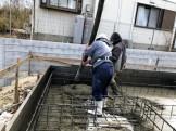 コンクリートを打設中です 須賀川市森宿 |郡山市 新築住宅 大原工務店のブログ