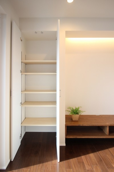 こちらも可動棚がついてます。|郡山市 新築住宅 大原工務店のブログ