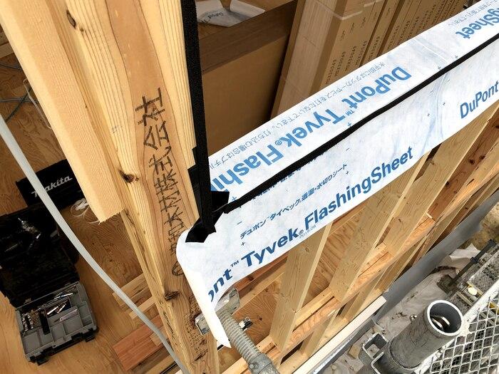 大原工務店で新築注文住宅建築中K様邸、雨仕舞に考慮して施工してます。郡山市富田町| 郡山市 新築住宅 大原工務店のブログ