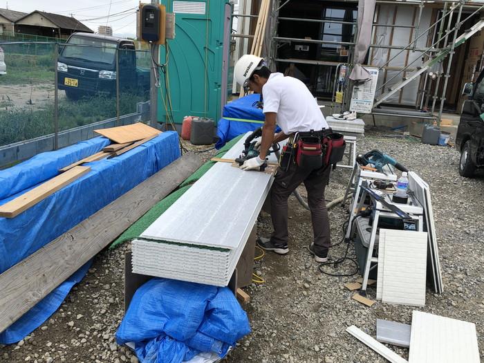外壁工事です。|郡山市 新築住宅 大原工務店のブログ