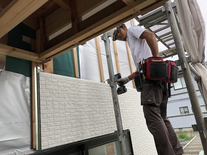 外壁材の施工です。|郡山市 新築住宅 大原工務店のブログ