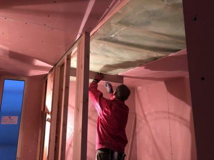 気密シートもばっちりです。|郡山市 新築住宅 大原工務店のブログ
