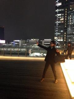 夜景と社長