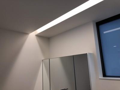 洗面の照明も勉強になりました。|郡山市 新築住宅 大原工務店のブログ