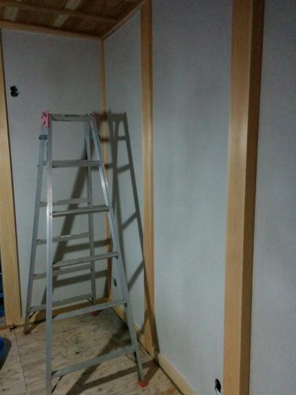 塗り壁下塗り完了