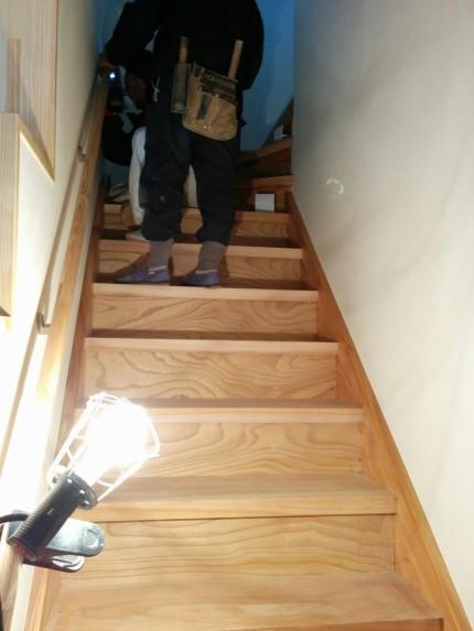 欅 無垢 階段