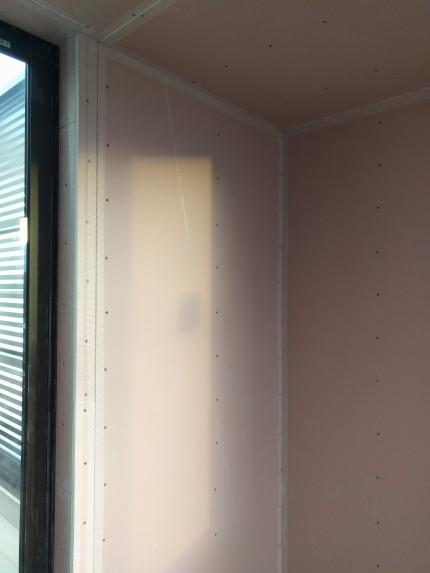 漆喰、下地処理、ファイバーテープ