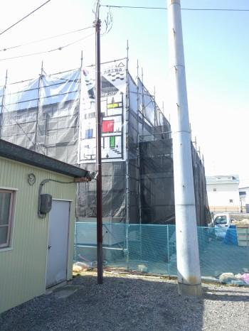 石膏ボードのチェックです。郡山市富田町 I様邸 新築住宅。