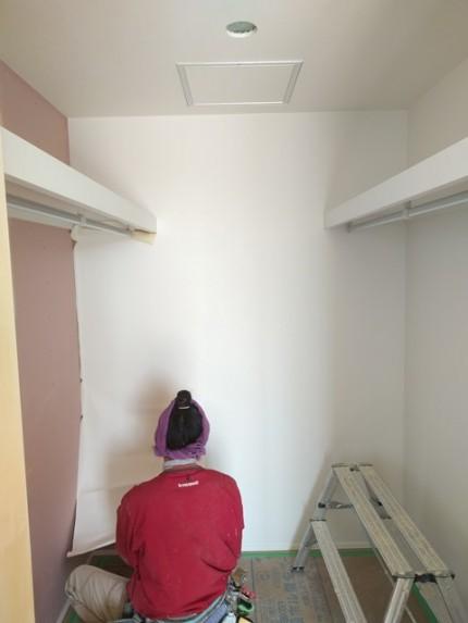 新築住宅のクロス施工です。 郡山市 新築住宅 大原工務店のブログ