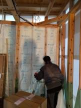 新築モデルの断熱材の施工です。|郡山市 新築住宅 大原工務店のブログ