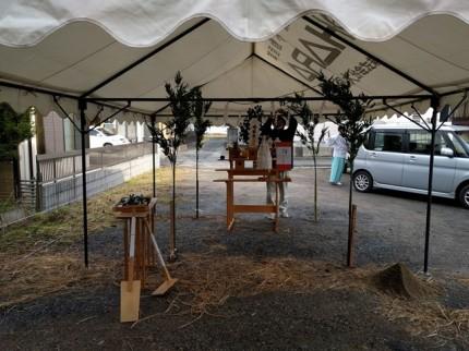 地鎮祭、準備完了です。|郡山市 新築住宅 大原工務店のブログ