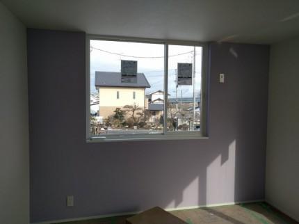 子供室のアクセントクロスです。|郡山市 新築住宅 大原工務店のブログ