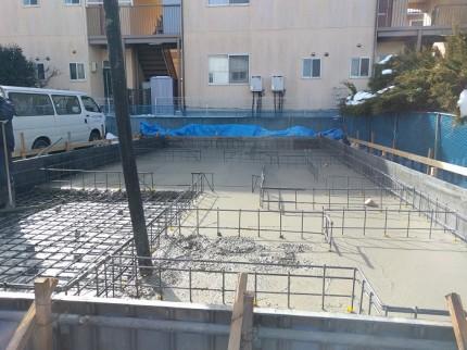 基礎コンクリート打設してます。郡山市亀田|郡山市 新築住宅 大原工務店のブログ