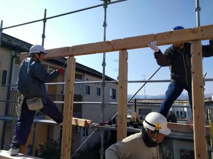 新築の躯体くみ上げです。|郡山市 新築住宅 大原工務店のブログ