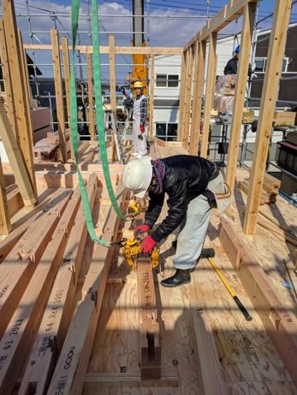 新築の上棟の様子です。|郡山市 新築住宅 大原工務店のブログ
