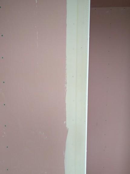 角コーナーのパテ埋めです。|郡山市 新築住宅 大原工務店のブログ