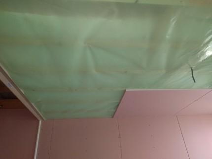 気密シートの施工です。|郡山市 新築住宅 大原工務店のブログ