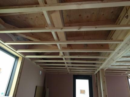 新築の天井組みです。|郡山市 新築住宅 大原工務店のブログ