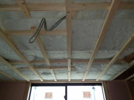 新築の天井の断熱材です。|郡山市 新築住宅 大原工務店のブログ