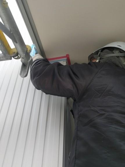 マスキングテープ施工です。|郡山市 新築住宅 大原工務店のブログ