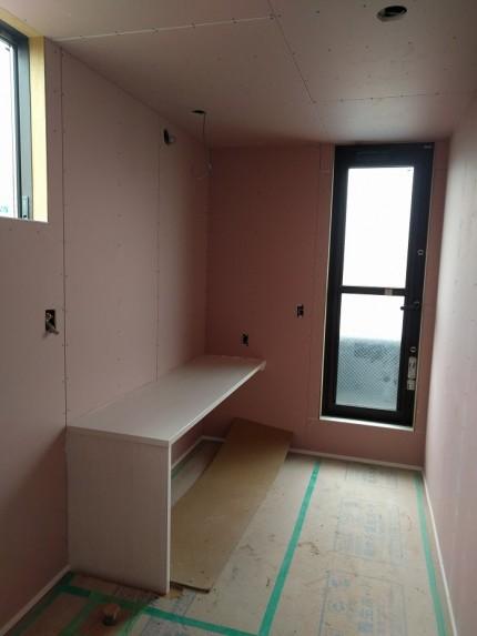 二階の洗濯物コーナーです。郡山市小原田|郡山市 新築住宅 大原工務店のブログ