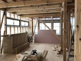 サッシが入りました。|郡山市 新築住宅 大原工務店のブログ
