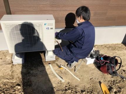 エアコンの漏れの確認です。|郡山市 新築住宅 大原工務店のブログ