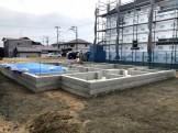 べた基礎が完成した写真です。郡山市喜久田町| 郡山市 新築住宅 大原工務店のブログ