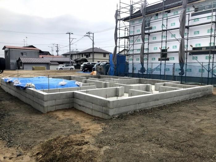 べた基礎が完成した写真です。郡山市喜久田町  郡山市 新築住宅 大原工務店のブログ