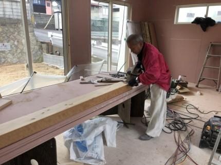 玄関框の加工です。|郡山市 新築住宅 大原工務店のブログ