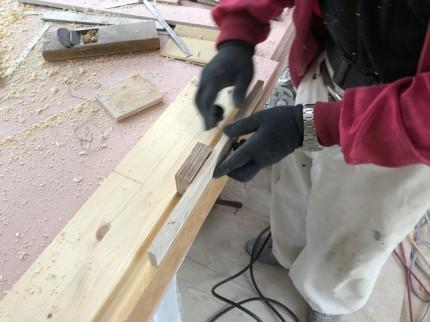 框の溝堀完了です。|郡山市 新築住宅 大原工務店のブログ