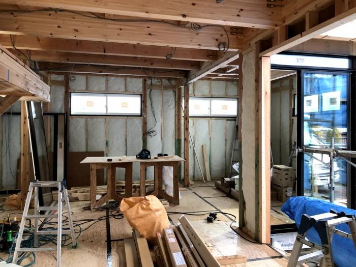 断熱材の施工が終わった写真です。郡山市安積町  郡山市 新築住宅 大原工務店のブログ