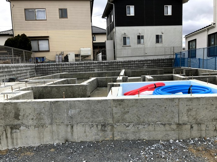 べた基礎が完成しました。須賀川市森宿| 郡山市 新築住宅 大原工務店のブログ