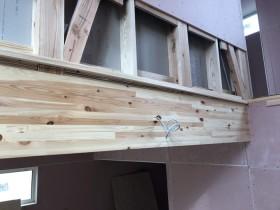 吹き抜けの見切り材です。 郡山市 新築住宅 大原工務店のブログ