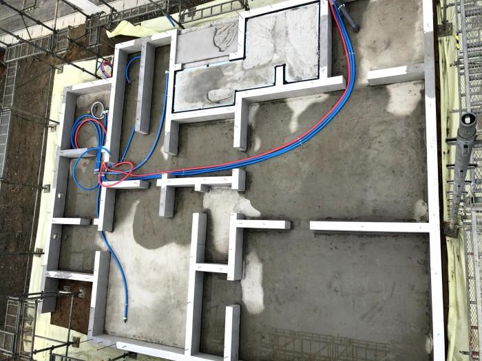 給水、給湯配管の全体の様子です。郡山市喜久田町  郡山市 新築住宅 大原工務店のブログ