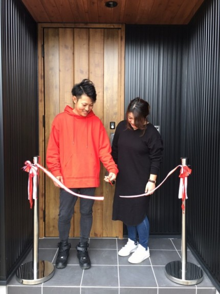 S様邸テープカット 福島県須賀川市|郡山市 新築住宅 大原工務店のブログ