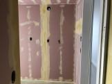 石膏ボードにパテ処理をしました 郡山市開成 |郡山市 新築住宅 大原工務店のブログ
