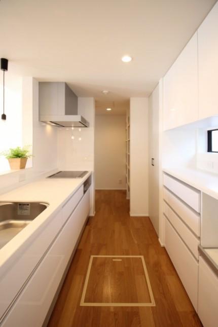 郡山市モデルハウス「ライフボックス」キッチン 郡山市 新築住宅 大原工務店のブログ