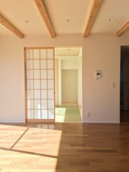 リビングに続き和室があります。郡山市田村町| 郡山市 新築住宅 大原工務店のブログ