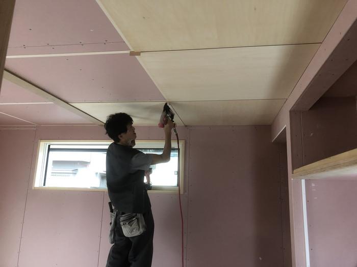 和室の天井施工です。|郡山市 新築住宅 大原工務店のブログ