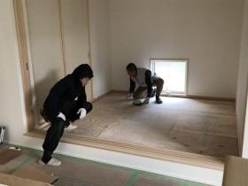 オシャレな畳の寸法取りです。 郡山市 新築住宅 大原工務店のブログ