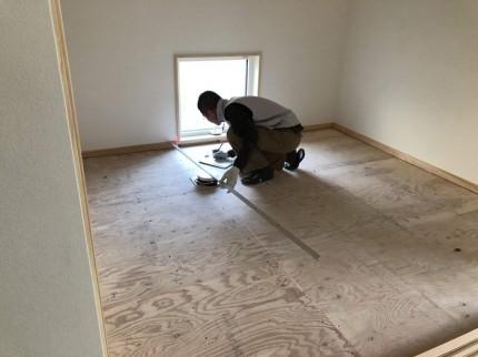 新築の畳の採寸です。 郡山市 新築住宅 大原工務店のブログ