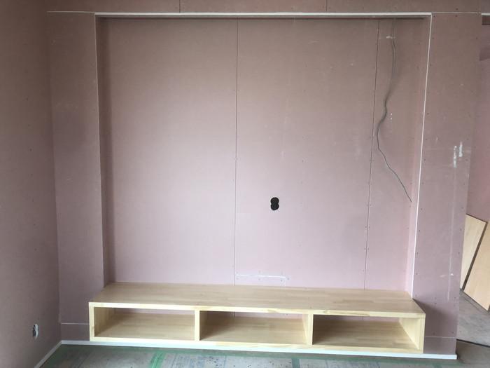 TVコーナーの造作です。|郡山市 新築住宅 大原工務店のブログ