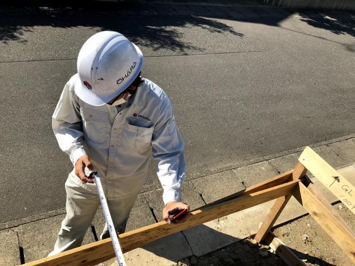 新築注文住宅の境界からの離れの検査です 郡山市富田町 |郡山市 新築住宅 大原工務店のブログ