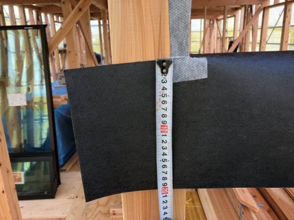 新築の先張りシートのチェックです。|郡山市 新築住宅 大原工務店のブログ