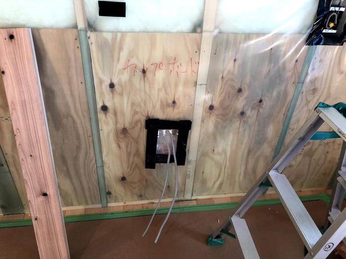 気密コンセントボックスのチェックです。|郡山市 新築住宅 大原工務店のブログ