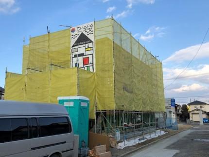 新築の外観です。|郡山市 新築住宅 大原工務店のブログ