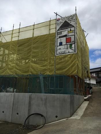 上棟完了しました。須賀川市 R様邸 新築住宅